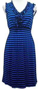Spense short dress Blue and Black on Tradesy