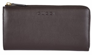 Gucci Gucci Women's 332747 Brown Calf Leather Zip Around Wallet
