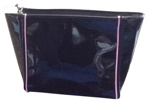 Saint Laurent Saint Laurent Patent leather Pink trim Zipper Cosmetic Bag