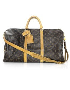 Louis Vuitton Monogram Bandouliere Keepall Travel Brown Travel Bag