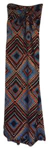 blue/ orange multi Maxi Dress by Band of Gypsies