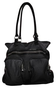 Cole Haan Nylon/Patent Leather Multi-pocket Shoulder Tote in Black