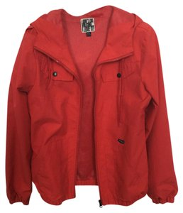Volcom Red Rain Windbreaker Dark Coral Jacket