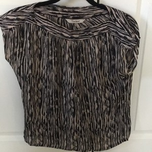 Tucker Top black and white zebra print