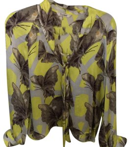Tucker Top multi butterfly print