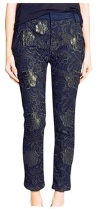 7 For All Mankind Trouser Pants Navy