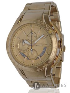 A X Armani Exchange BRAND NEW MENS ARMANI EXCHANGE A X (AX1407) GOLD STAINLESS STEEL WATCH