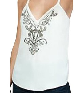 Express Embellished Detailed Top Ivory