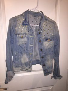 Other Studded Gold Hardware Comfortable Vintage Womens Jean Jacket