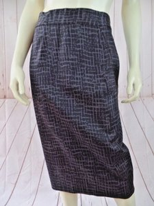Ann Taylor LOFT New Pencil Stretch Straight Unlined Skirt Gray, Black