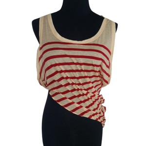 Jean-Paul Gaultier Top Red/Ivory Stripes