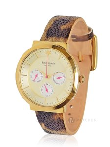 Kate Spade BRAND NEW KATE SPADE (1YRU0511) REPTILE LEATHER STRAP CHEETAH WATCH