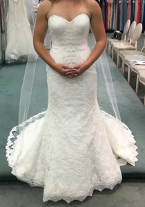 Oleg Cassini Beaded Lace Trumpet Wedding Dress Wedding Dress