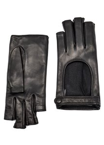 Gucci Gucci Womens Donna Fingerless Leather Gloves 8