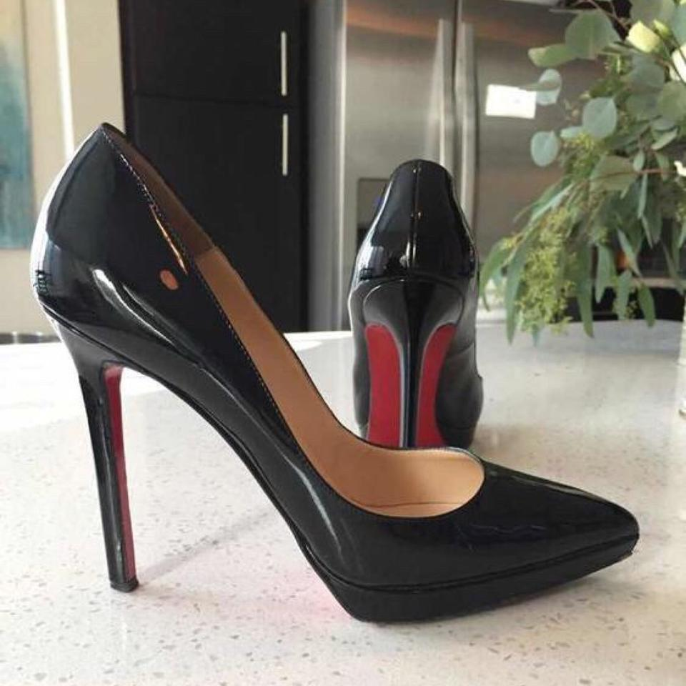 Christian Louboutin Black Patent Leather Platforms Pigalle Plato Platforms Leather 7f97e3