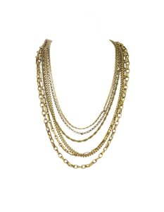 Chanel Chanel 6 Strand Vintage Gripoix Necklace