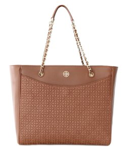 Tory Burch Quilted Tote in Brown