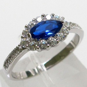 9.2.5 Gorgeous blue and white sapphire evil eye ring size 8