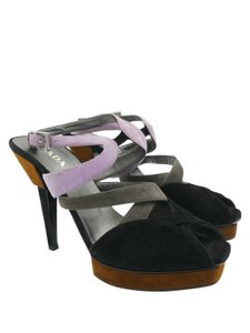 Prada black grey lilac Sandals