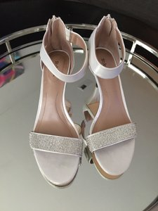 Style & Co Crystal Ankle Strap White Wedding Shoes Wedding Shoes