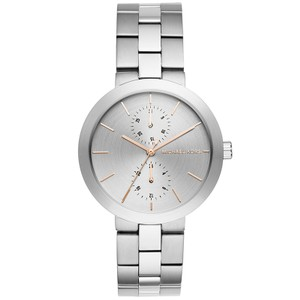 Michael Kors NEW WOMENS MICHAEL KORS (MK6407) HARTMAN ROSE GOLD SILVER WATCH