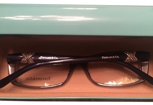 Tiffany & Co. Crystal Gray Blue Square Eyeglasses Frame TF-2110-B 8076