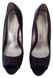 Rampage Black Glitter Pumps