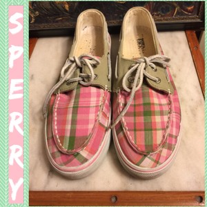 Sperry PINK/GREEN/TAN/WHITE Flats