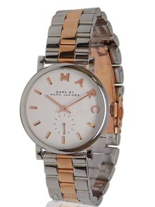 Marc by Marc Jacobs NEW WOMENS MARC JACOBS (MBM3312) TWO TONE BAKER STAINLESS STEEL WATCH