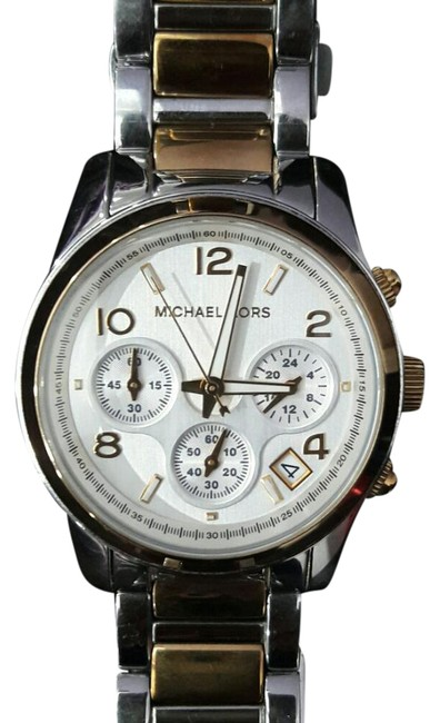 Item - Two-tone Gold and Silver Runway Watch
