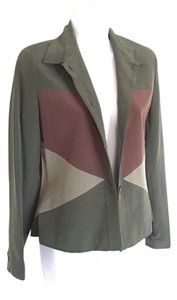 Pat Argenti High Quality Color Block Green/Brown Jacket