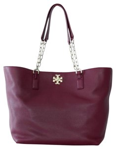 Tory Burch Chain Burgundy Tote