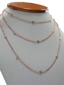 Unique Diamond 18k Rose Gold Diamond Chain