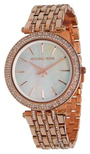 Michael Kors NWT WOMENS MICHAEL KORS (MK3220) DARCI GLITZ ROSE GOLD WATCH