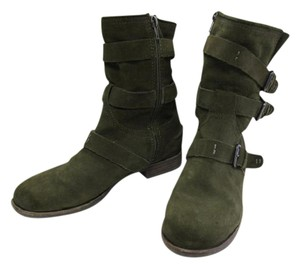 Dolce Vita Suede Ferin Belted Olive Green Boots