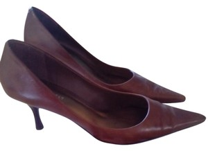Nine West Cognac Pumps