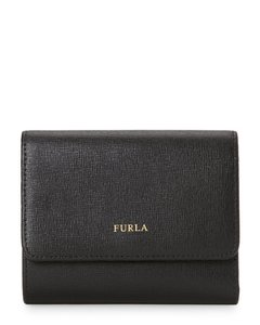 Furla Furla Black Leather Tri Fold Snap Wall