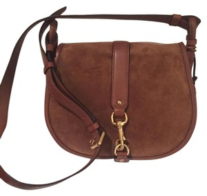 Michael Kors Saddle Suede Leather Cross Body Bag