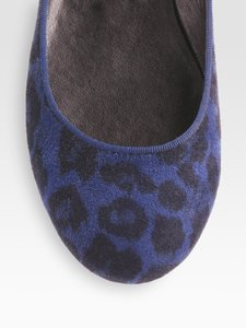 Stella McCartney Leopard blue and black Flats