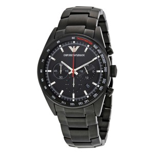 Emporio Armani NEW MENS EMPORIO ARMANI (AR6094) BLACK PVD CHRONOGRAPH WATCH