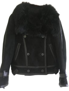 Burberry Prorsum Womens Lamb Shearling/fur Motorcycle Jacket