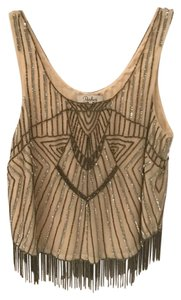 Parker Sequin Beaded Fringe Top