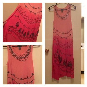 peach/pink Maxi Dress by Other