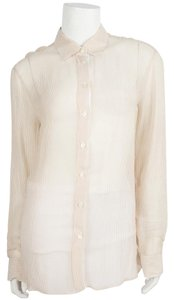 Giorgio Armani Button Down Shirt cream & tan
