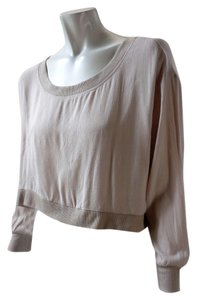Love Culture Cropped Loose Dolman Top Blush Pink