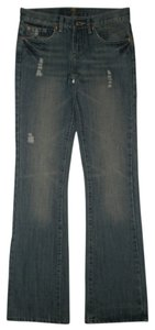 7 For All Mankind 5 Pocket Style Zip Fly 100% Cotton Boot Cut Jeans-Distressed
