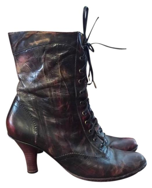 Item - Distressed Burgundy Brown Made By Born Boots/Booties Size US 10