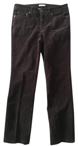 Jones New York Cords Straight Pants Brown