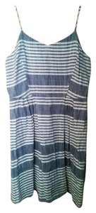 Old Navy short dress Blue & White Striped Summer A-line on Tradesy