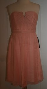 J.Crew Misty Rose Silk Nadia In Chiffon P10 Feminine Bridesmaid/Mob Dress Size Petite 10 (M)